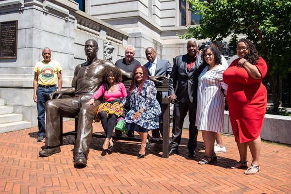 New Jersey city unveils 700-pound statue of George Floyd