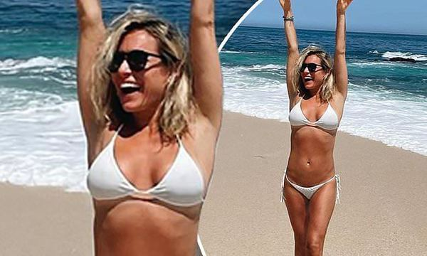 Kristin Cavallari poses in a white bikini while in Mexico with her family   Daily Mail Online