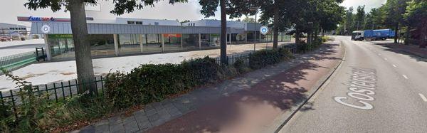 Dreef Beheer wil aan de Stetweg een DekaMarkt met appartementen bouwen. Afbeelding via Google Streetview.