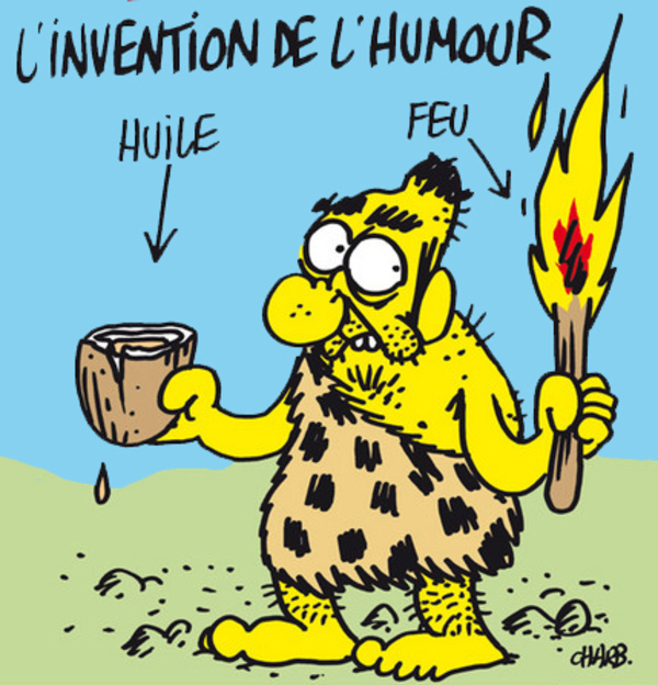 Caricature retenue par Denise Charbonnier pour illustrer son livre.