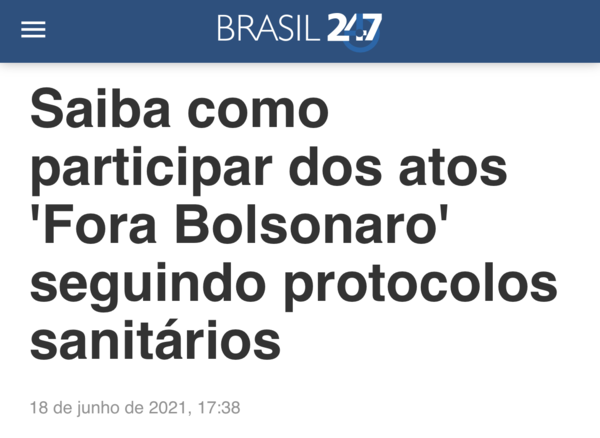 Brasil 247 promove protocolo sanitário sem base científica