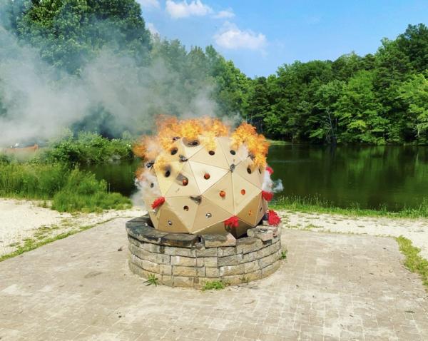 Burning a Corona Virus as a Ritual