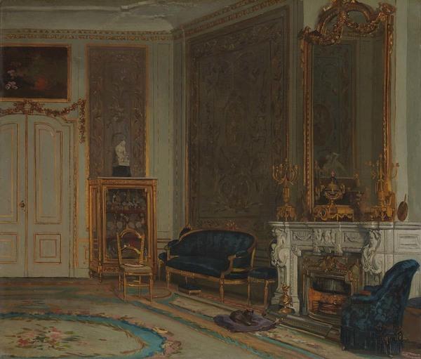 'De zaal in het huis A. Willet-Holthuysen, Herengracht 605' 1882 - olieverf op doek: Willem Steelink jr. (herkomst: coll. Amsterdam Museum)