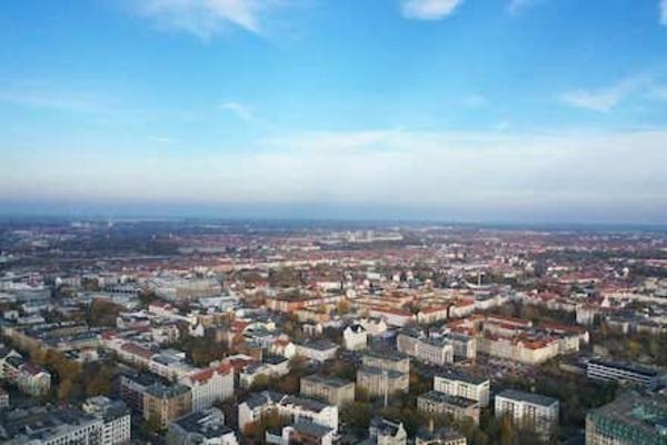 Leipzig aus der Sicht einer Drohne. Quelle: Lecos GmbH