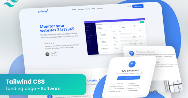 Landing Page for Tailwind CSS - Software