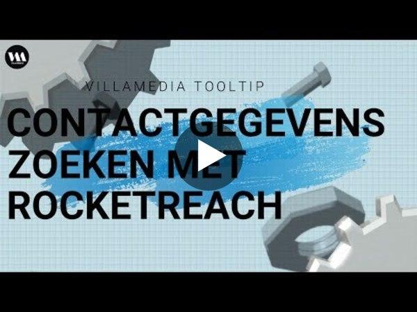 Villamedia Tooltip - Contactgegevens zoeken met Rocketreach
