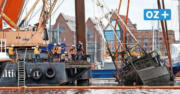 Nach Bergung im Rostocker Stadthafen: So geht es mit dem gesunkenen Kutter weiter