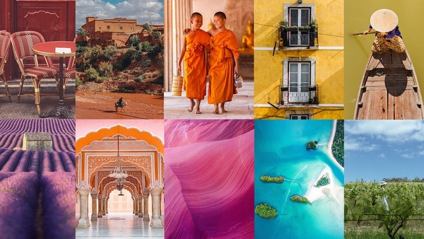 Take a rainbow journey around the world and travel by colour with Small Luxury Hotels of the World!