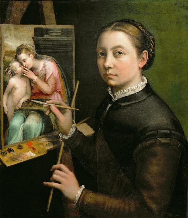 Sofonisba Anguissola, Self-Portrait, 1556, Lancut Museum, Poland.