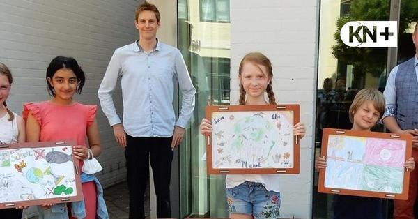 Malwettbewerb in Bad Segeberg mit mahnenden Plakaten zum Klimaschutz