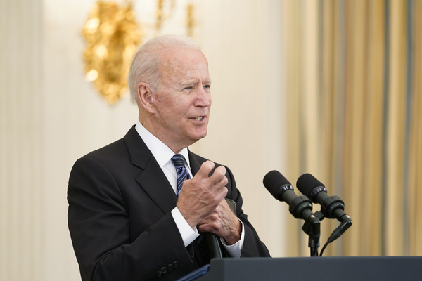 President Joe Biden discusses his crime prevention strategy at the White House on Wednesday, June 23. AP Photos
