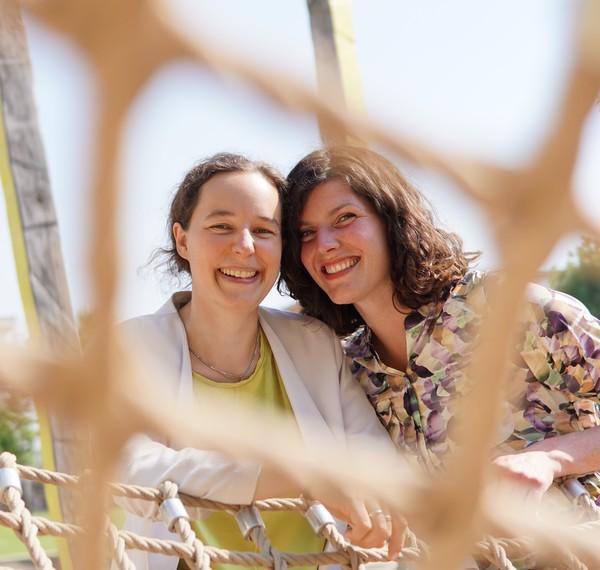 Stephanie Faisal und Franziska Raabe (Quelle: hfr)