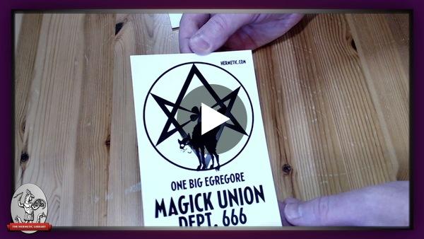 Checking out a sample Magick Union Dept 666 mini art print refresh design for Patron merch