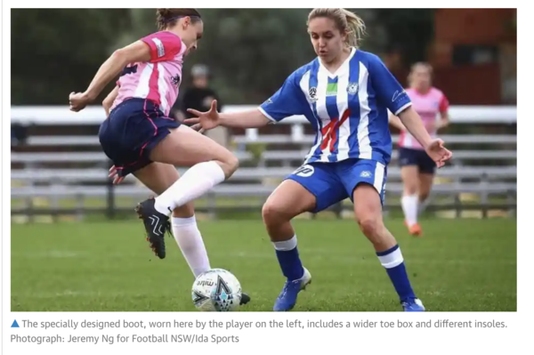 'We've done something crazy': the football boots designed for women | Women's football | The Guardian