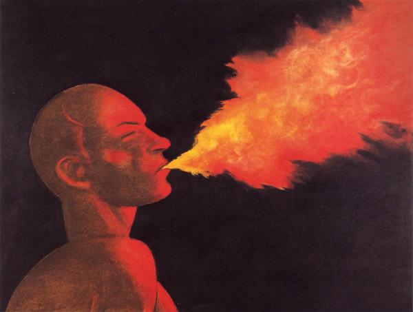 Portrait de Baudelaire (1821-67) par Milton Glaser