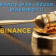 Binance issued warning for operating without a license