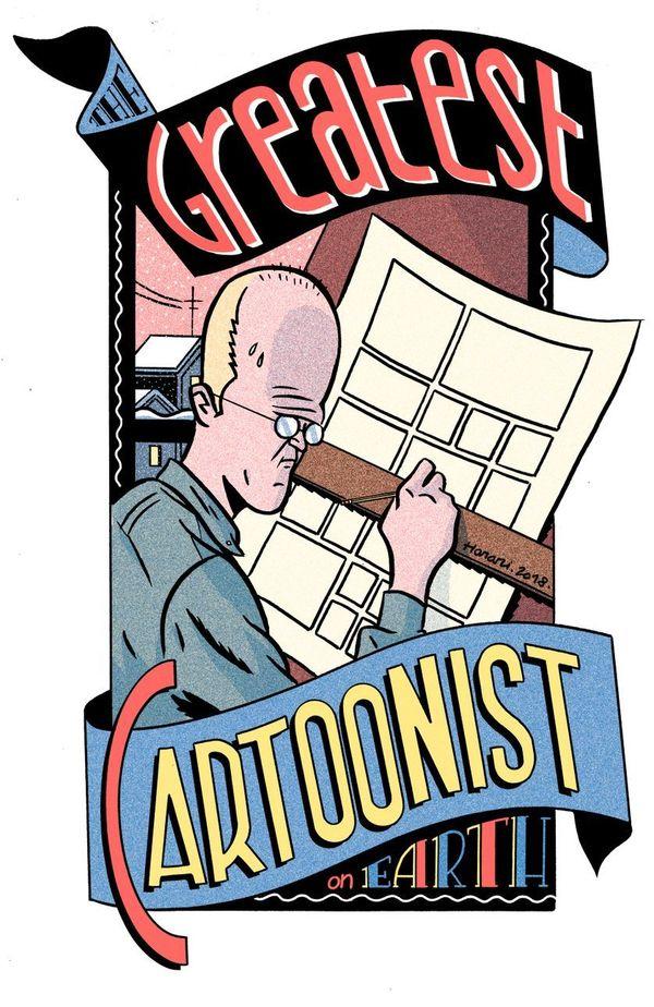 Chris Ware caricaturé par Joost Swarte.