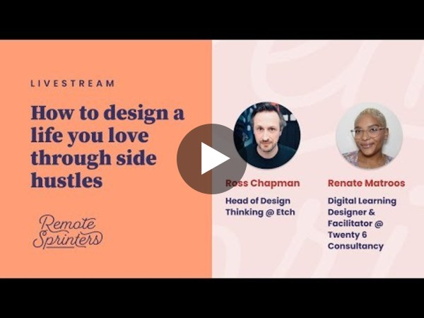 How to design a life you love through side hustles