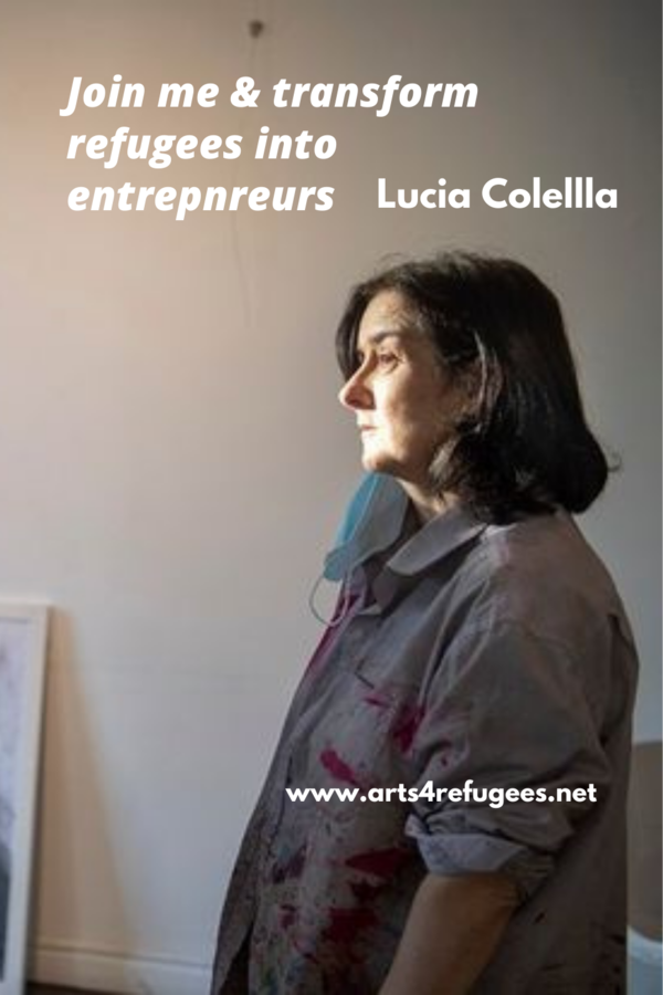 Lucia Colella shares 50% of her earnings supporting post conflict regions.