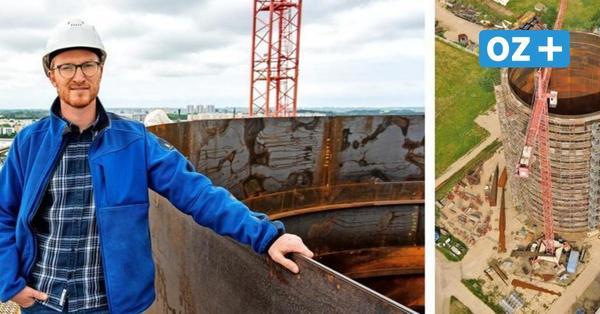 Energiewende in Rostock: Warum die Stadtwerke eine 45000-Tonnen-Thermoskanne bauen