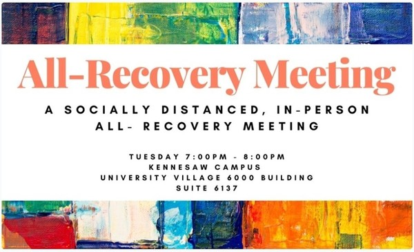 All-Recovery Meeting - every Tuesday at 7 pm