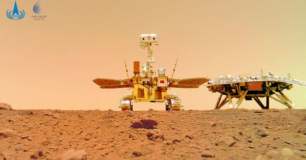 Listen to the sounds of China's Zhurong rover on the surface of Mars