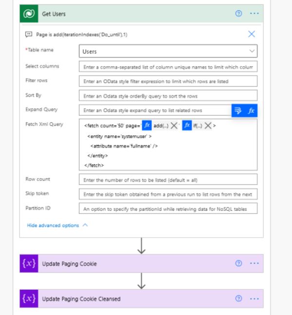 Paging while using FetchXML in Dataverse Connector   Dreaming in CRM & Power Platform