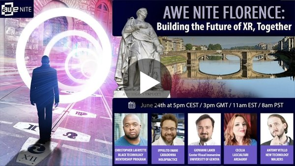 AWE Nite Florence: Building the Future of Extended Reality Together