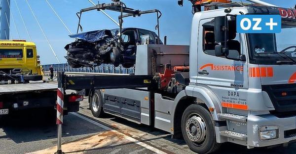 Nach Unfall auf Rügenbrücke: Könnte ein Auto durchbrechen und im Sund landen?