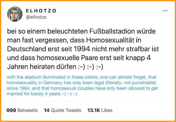 "Tweet by the German online comedian Sebastian Hotz, also known as ""El Hotzo"". Screenshot: https://twitter.com/elhotzo"