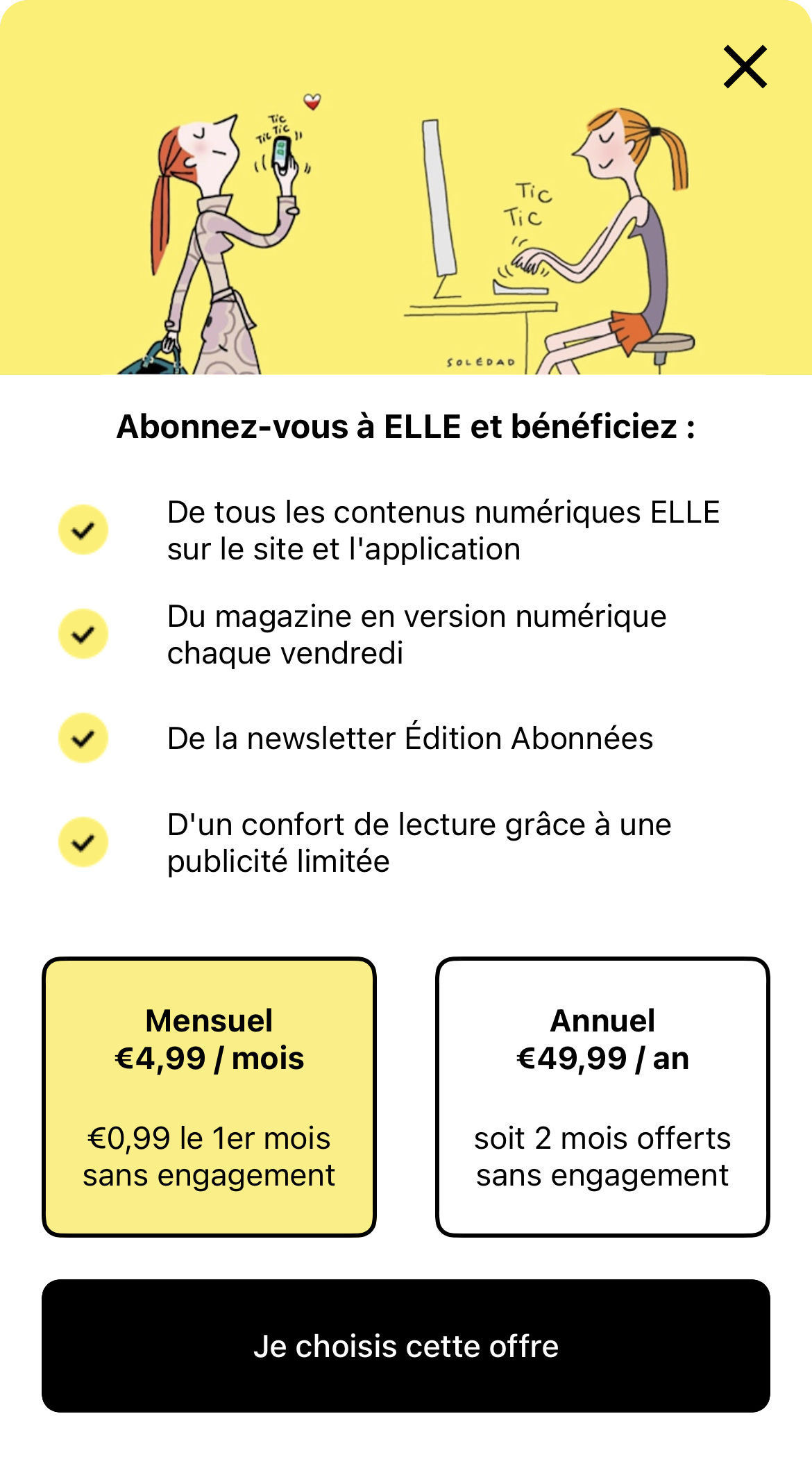 Paywall by ELLE France