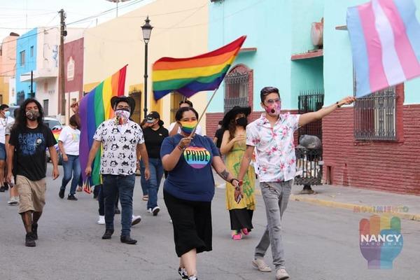 1era Marcha del Orgullo LGBT+ en Parras, Coahuila - Foto: Movimiento Nancy Cárdenas