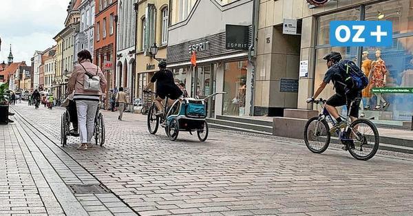 Kommt jetzt das Radfahrverbot in der Wismarer Fußgängerzone?