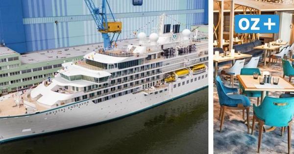 """""""Crystal Endeavor"""" in Stralsund getauft: Video zeigt Luxusyacht von Innen"""