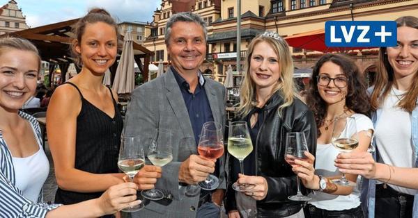 Leipziger Weinfest auf dem Markt: Auf die edlen Tropfen!