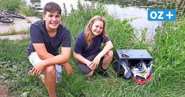 Greifswald: Jugendliche finden Tresore mit Autoschlüsseln und Ausweisen im Ryck