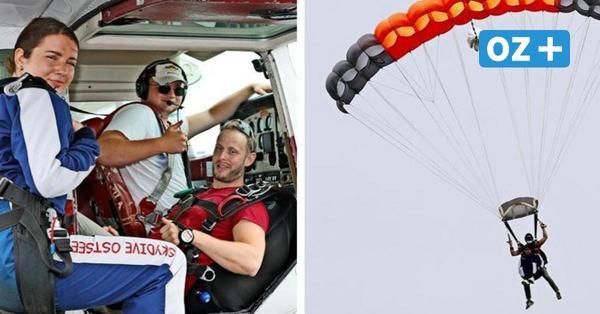 Fallschirmspringen in MV: So fühlt sich der Fall aus 3000 Metern Höhe an
