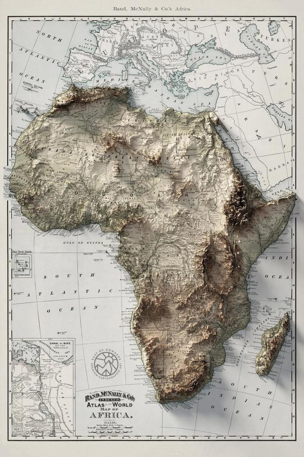 The Topography of Africa