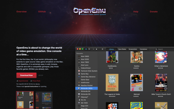 OpenEmu - Multiple video game system