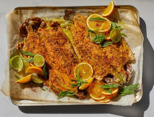 Mahi ba Somagh (Sumac Roasted Fish) Recipe - NYT Cooking