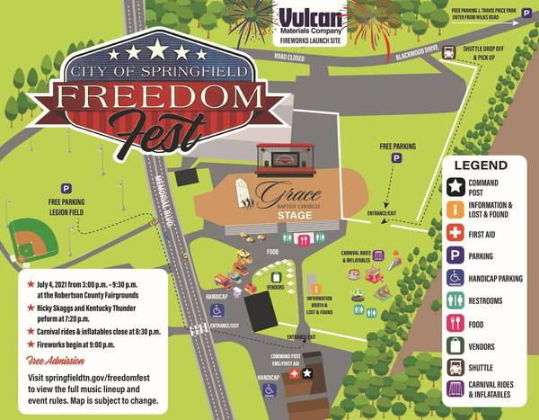 Sunday July 4th @ 3-9:30pm   Freedom Fest   Rob Co Fairgrounds