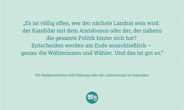Was hilft mehr: Amtsbonus oder Rückenwind durch Politik? - Heidekreis - Walsroder Zeitung