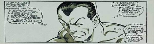 John Byrne - Namor Original Comic Art
