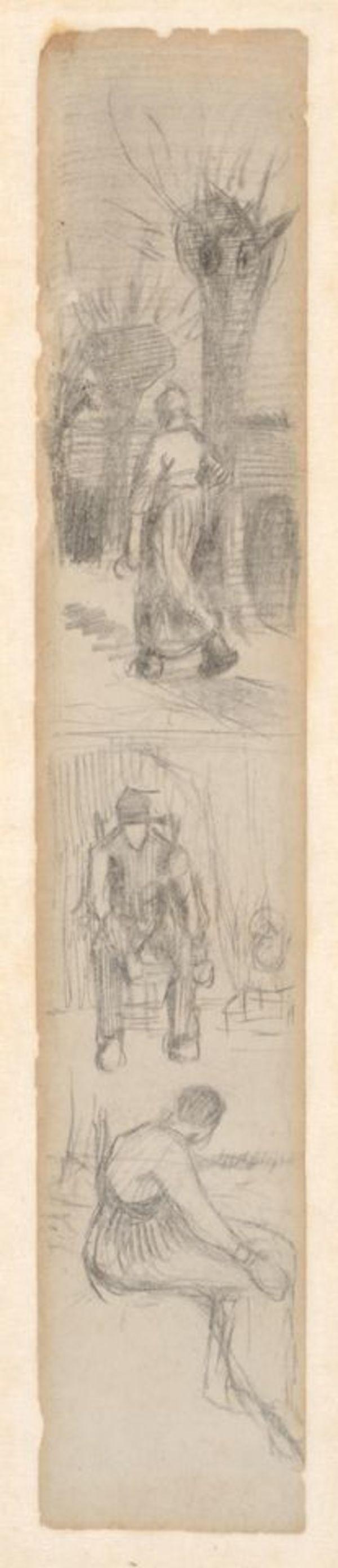 Nieuw ontdekte schetsen Van Gogh tentoongesteld - tweet @VanGoghBrabant