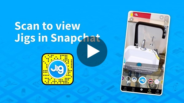 Scan to view Jigs in Snapchat with JigSpace Lens
