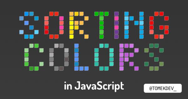 Sorting colors in JavaScript