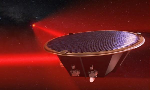 Artist's impression of a Lisa spacecraft. (Source: AEI/Milde Marketing/Exozet)