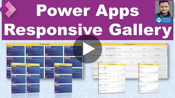 Power Apps Responsive Gallery (Card and Table layout)