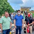 AfD-Parteitag in Braunschweig: Wolfsburger Metaller protestieren vor Ort