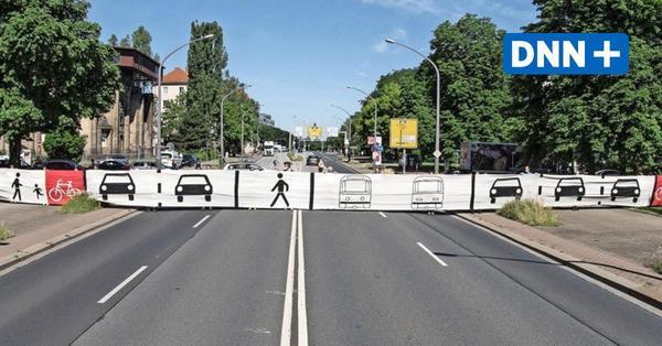 """""""Breiter"""" Protest gegen Ausbau der Nürnberger Straße in Dresden-Südvorstadt"""